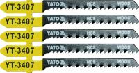 JIG SAW BLADE TYPE T, 13 TPI, FOR WOOD, 5 PCS