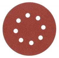 ABRASIVE DISC SET WITH HOLES (WITH VELCRO) 125mm, p100, z 8
