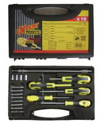 Screwdriver and bit set 18 pcs.