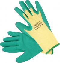 LATEX COATED COTTON / PE GLOVES