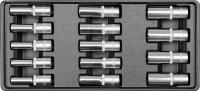 PVC Padėklas 14PCS DEEP SOCKET SET 8 ~ 21mm